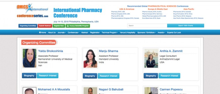 AnthiaZammit Legal honored with International Pharmacy (USA) Organizing Committee Membership.